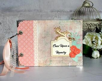 Scrapbook Album - Anniversary Album - Photo Album - 1st Anniversary Gift - Gift For Wife - Rustic Wedding Album - Personalized Gift