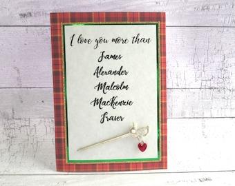 Outlander Humorous I Love You More Than James Alexander Malcolm MacKenzie Fraser Valentine Love Dating Card