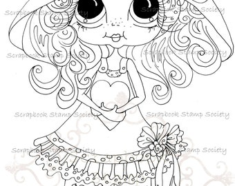 INSTANT DOWNLOAD Digital Digi Stamps Big Eye Big Head Dolls Messy Bessy My Besties Digi Img790 By Sherri Baldy