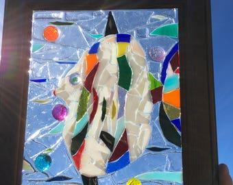 Tropical Fish stained Glass Window Art Suncatcher