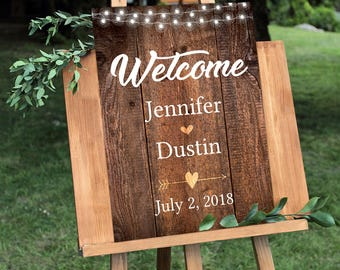Wedding Welcome Sign, Country Wedding, Rustic Wedding, Rustic Wedding Sign, Printable Wedding Sign, Wedding Sign, Wedding Decor