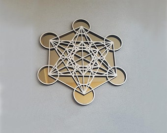 Metatron's Cube golden mirror