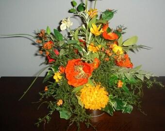 Everyday Centerpiece, Floral Centerpiece, Year Round Floral Centerpiece, Holiday Centerpiece