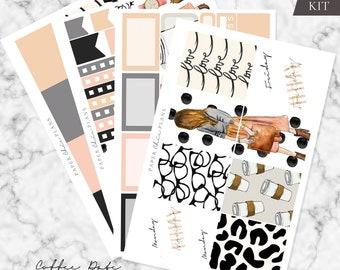 MINI KIT - 'Coffee Date' // Erin Condren Planner Sticker Kit - MATTE