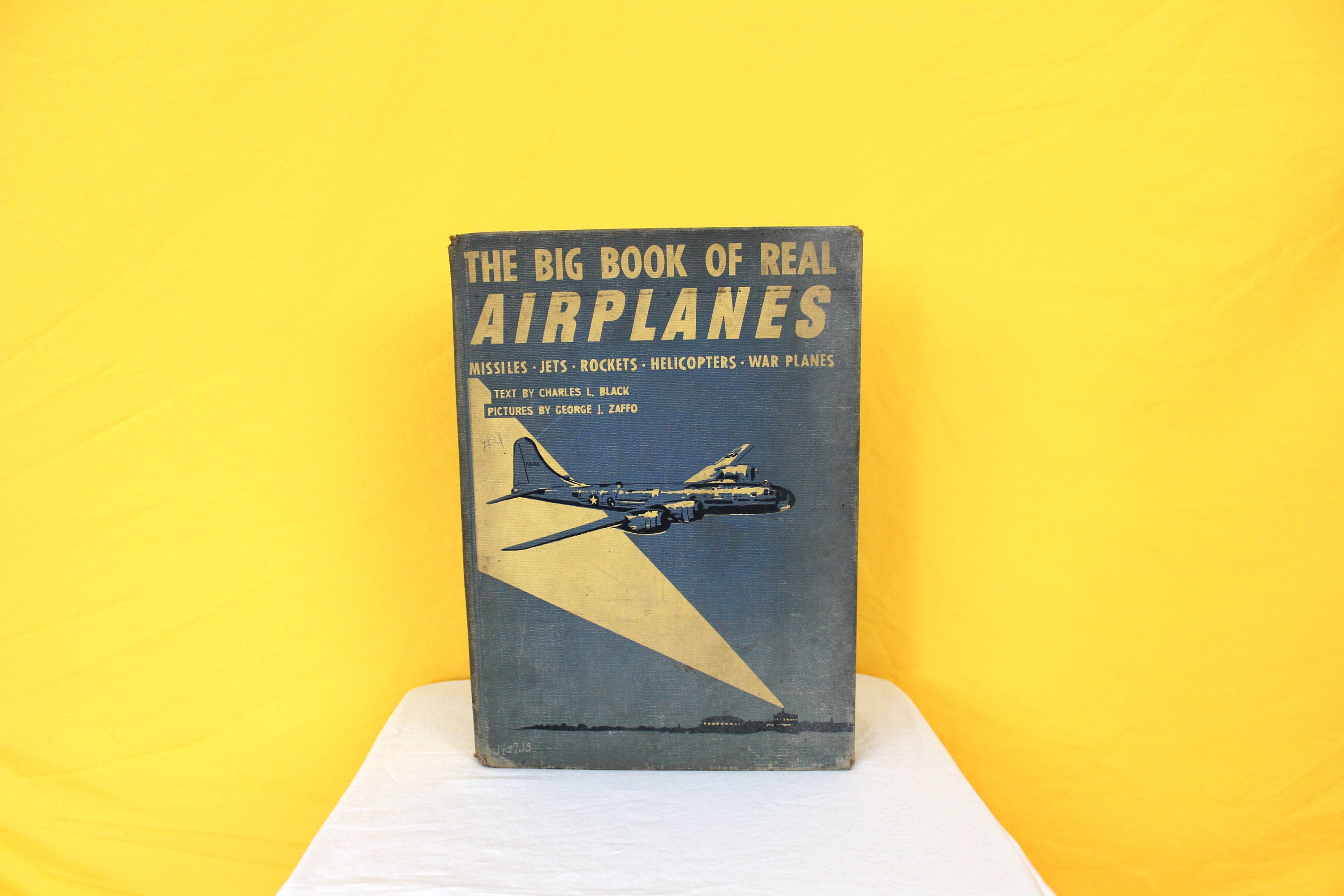 Antique Childrens Airplane Book. The Big Book Of Airplanes By ...