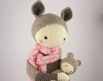 Kira the Kangaroo from pattern by Lalylala
