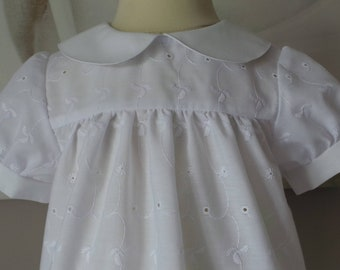 18 months in white eyelet cotton blouse