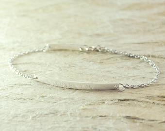 Bar bracelet bar jewelry simple bar bracelet alloy Bar bracelet 925 sterling silver bar bracelet friendship bracelets