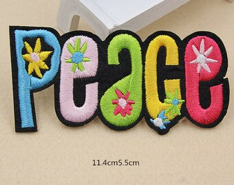 peach patches,iron on embroidery badges,letters patches,alphabet peach patches,patches for denim jeans jackets,