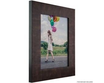 "Craig Frames, 14x20 Inch Walnut Veneer Solid Wood Picture Frame, Winston 2"" Wide (104581420)"