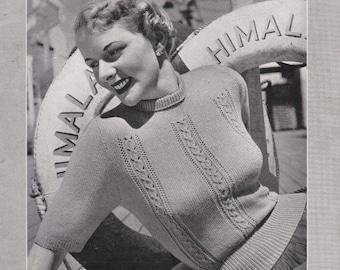 ON SALE Vintage 1940s - Paton's Knitting Pattern No 318  For Women/Ladies - Original Pattern