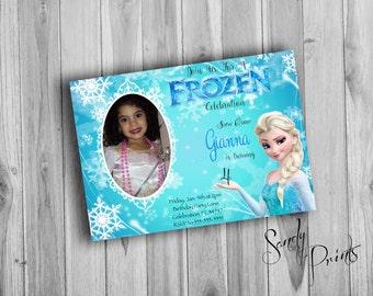 Frozen Birthday Invitation Digital