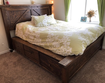 Custom Handcrafted Farmhouse Queen or King Bed Frame