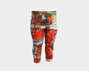 Baby Leggings/Baby Clothes/Mother Daughter Leggings/Clothing for kids/Six months/Kid's clothing/Printed leggings for babies/Red/Boy/Girl