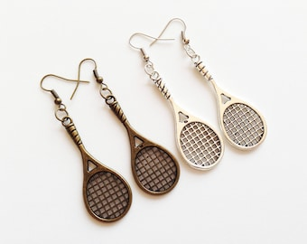 TENNIS RACKET Earrings Tennis Racket Jewelry Tennis Racket Gift Tennis Player Earrings Tennis Player Gift Tennis Player Jewelry Tennis Ball