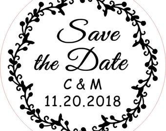Save The Date Stamp, Custom Stamp,  Wedding Stamp, Custom Rubber Stamp, Valentine Stamp, Bridal Stamp, Address Stamp, Personal Stamp, Stamp