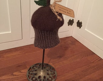 Knit Acorn Hat for Baby, Toddler, or Child