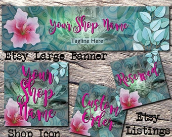 ETSY LARGE COVER Complete Set-Nature Etsy Cover Photo-Premade Banner,Etsy Set-Crystal Banner- Etsy Large Cover,Nature Large Cover, #121