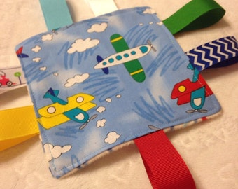 Airplane Baby  Crinkle Toy