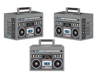 80's Flashback Boom Box Party Favors / Retro 80's Party Favor Boxes/ 80's Party Favors/ Boom Box Party Favor Boxes