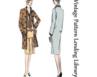 1929 Ladies Straight-Line Coat - Reproduction Sewing Pattern #Z2545
