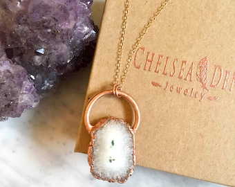 Artemis Solar Quartz Crystal Pendant on 14kt Gold Filled Chain