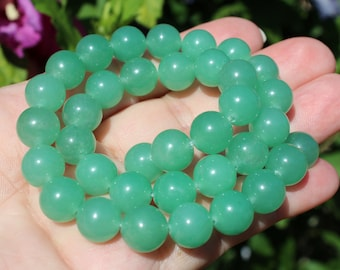 4 Aventurine round 10 mm AA102 beads
