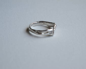 Stirling Silver Twig Ring