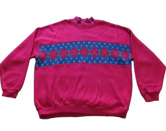VINTAGE Pink Holiday Sweater
