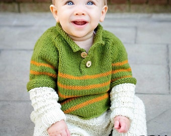 make your own Toasty Waffle Henley (DIGITAL KNITTING PATTERN) infant toddler child