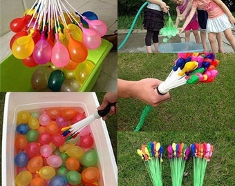 Magic Bunch O Water Balloons Vibrant Colors Fill & Tie in 60 Seconds  for Children's Outdoor Sports Water Battle Fight Pool Party Summer