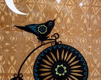 Six Wishes Left - 11 x 14 inch Cut Paper Art Print