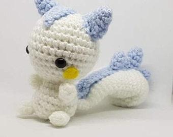 READY TO SHIP - Pachirisu Crochet Amigurumi - pokemon inspired