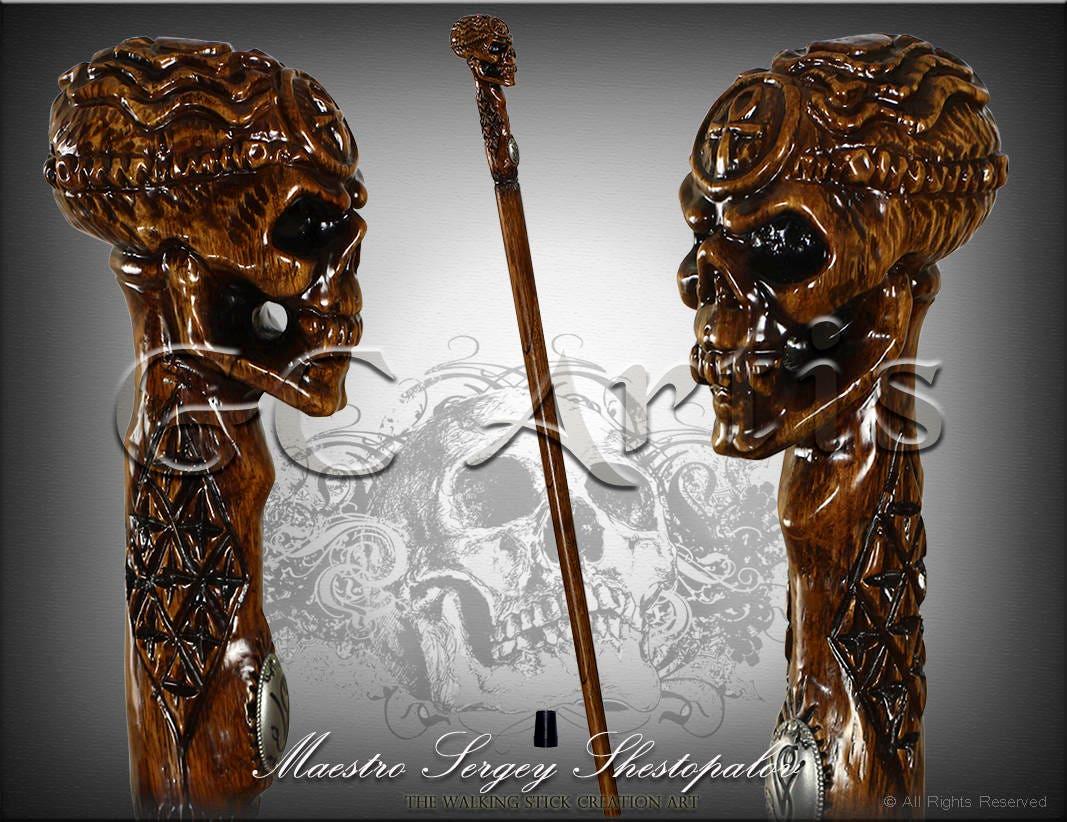 Human skull head egyptian ankh cross cane walking stick zoom biocorpaavc Image collections