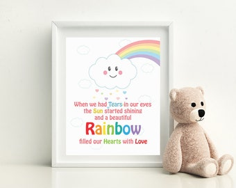 "Rainbow Baby Gift, Rainbow Nursery Print, Rainbow Nursery Art, Rainbow Printable, Rainbow Nursery Decor -  8""x 10"" digital file/printable"