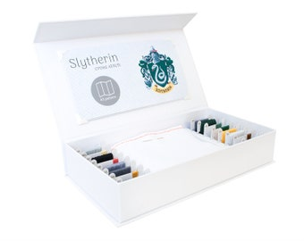 Slytherin Cross Stitch Kit - Stitchering Box - Organized Materials of Premium Quality - Perfect for Beginners and Experienced Craftiers