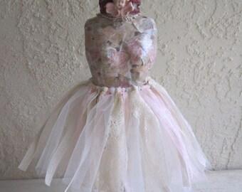 Mannequin, Altered Mannequin,French Mannequin, Jewelry Mannequin, Crown, Cherub