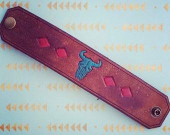 Buffalo Skull Cuff Bracelet