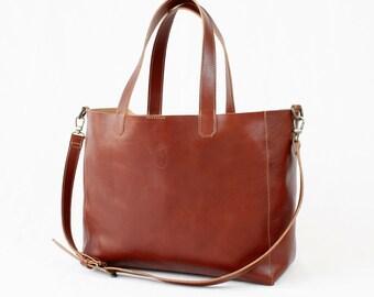Leather Crossbody bag, Full grain leather bag, Totes, dark brown bag