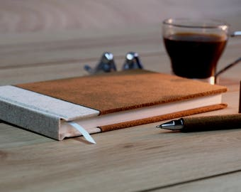 A lovely hand made blank notebook