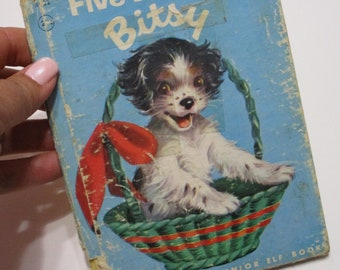 Vintage Children's Book-Five Beds for Bitsy