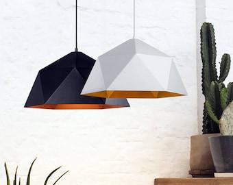 Pendant lights etsy more colors polygon pendant light modern aloadofball Choice Image