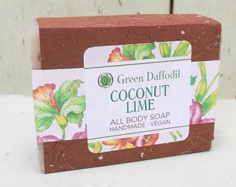 Coconut Lime Bar of Soap - Green Daffodil