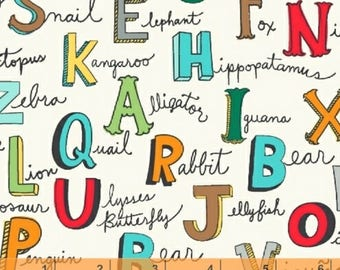 Animal ABC Flannel - Alphabet by Whistler Studios from Windham Fabrics