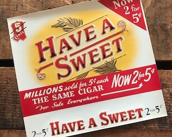 Vintage Cigar Label - Vintage Labels, NOS Labels, Junk Journal Ephemera, Paper Ephemera, Vintage Advertising, Altered Art, Craft Supplies