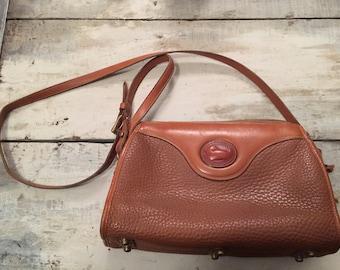 Dooney & Burke leather bag—80s