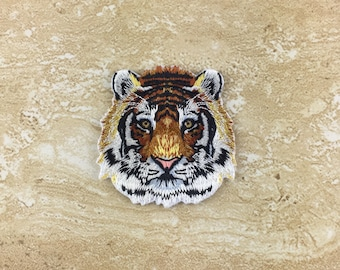 Tiger Head Iron On Patches 5.7cm X 5.8cm