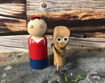 Wooden Peg People Inspired by ET