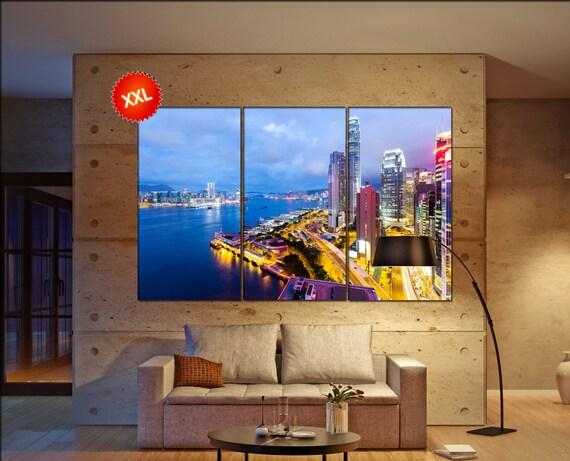Hong Kong  canvas wall art Hong Kong wall decoration Hong Kong canvas wall art art Hong Kong large canvas wall art  wall decor