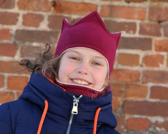 Dark red crown | Fleece Crown Headband | Fleece Neck Gaiter | Fleece Set | Fleece crown | Outdoor crown | 2-sided headband | Ear warmer